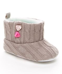This Tender Toes Gray Knit Bootie by Tender Toes is perfect! #zulilyfinds