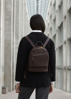 WANT Les Essentiels Mini Piper backpack in Bordeaux / Gilded Plum