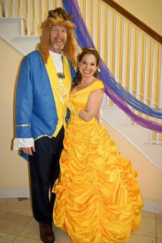 Disney beauty anf the beast couples costume