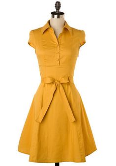 lovely yellow dress on modcloth.com