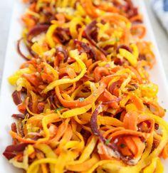 Roasted Garlic Parmesan Carrot Noodles   Kirbie's Cravings   A San Diego food & travel blog