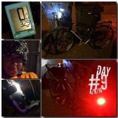 Day 9 Recap   #30daysofbiking   Didn't make time for this bike ride this morning and my day was PACKED full so you can just call me #nightrider    Was SHOCKED both my lights still had battery life after sitting in the garage all winter    38 degrees but it didn't feel that cold    Just circled the blocks around our house a few times...was worried if I went further my lights would die and I'd be stuck in the dark    My neighbors (who were having a party/bonfire) probably thought I was a…
