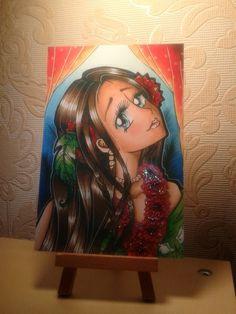 "Postkarte ""Tropical Beauty"" von Angelia Arts  auf DaWanda.com"