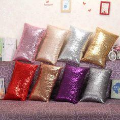 Cojín Decorativo cubre Púrpura Negro Rojo Crema Paisley Lentejuelas Bordado 40 Cm