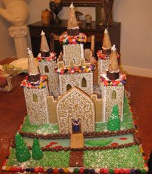 Gingerbread Castle With Turrets Gingerbread Gingerbread