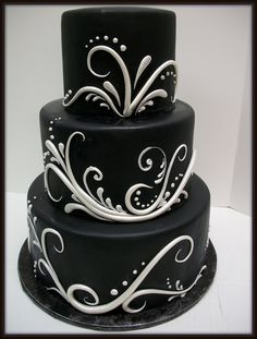 Swirly black elegance (back view) | fondant | Christy Vega-Gluch | Flickr