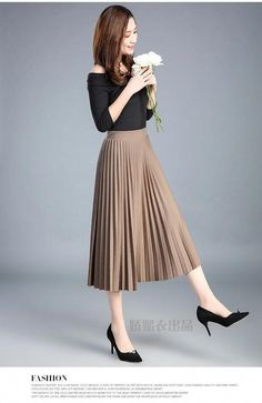 nice office outfits for ladies Long Skirt Fashion, Long Skirt Outfits, Winter Dress Outfits, Sweater Outfits, Indian Fashion Dresses, Girls Fashion Clothes, Fashion Outfits, Clothes For Women, Curvy Fashion