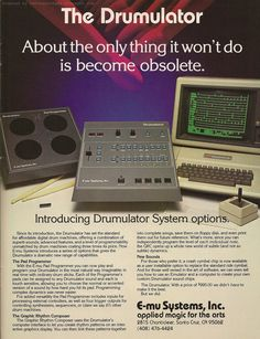 E-mu Systems Drumulator Vintage Synth, Vintage Keys, Vintage Music, Music Production Equipment, Recording Equipment, The Art Of Electronics, My Own Private Idaho, Drum Machine, Audio Sound