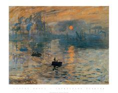 Impression, Sunrise, c.1872 Print by Claude Monet at Art.com