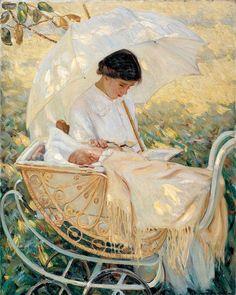 Jeune mère dans le jardin par Mary Cassatt (1844-1926)