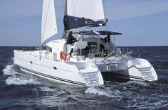 Catamaran cruising