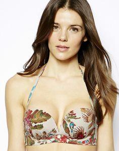 Gossard Birds Of Paradise Strapless Bra Bikini Top