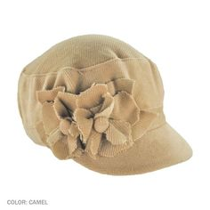 Perfect for your Fall wardrobe, this Scala 2 Flowers Cadet Cap features two flowers with button centers.  With a covered elasticized fit back, this cadet cap will have you looking good while feeling comfortable!