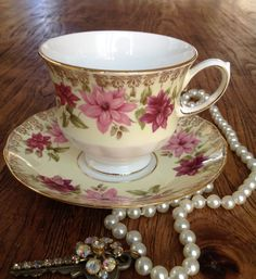 Vintage Queen Anne Teacup and Saucer on Etsy, $19.50