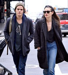 . You see Paul Wesley and Phoebe Tonkin we see a vampire and hybrid stepping out…