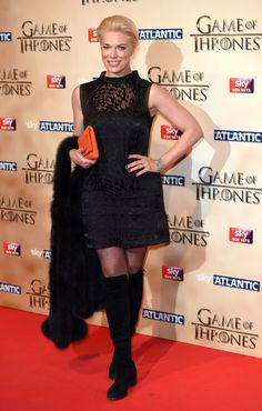 """Hannah Waddingham plays Septa Unella on """"Game of Thrones,"""" and is also a London theater veteran. A Little Night Music, Set Game, London Theatre, Celebrity Red Carpet, British Actresses, Celebs, Celebrities, Beautiful Actresses, Real Life"""