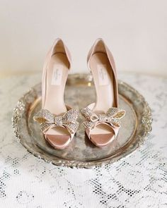 @maisonvalentino heels.  #valentino #designer #fashion #heels #pumps #shoes #wedding #bride | Image: Yvonne Cooper