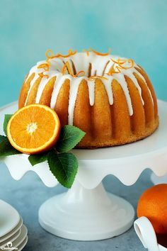 Soft and fluffy orange cake with a tender crumb, melt-in-the-mouth texture, and bright orange flavor. Leave it plain for a simple, everyday snack, or drizzle with cream cheese glaze to turn it into dessert. Mug Cakes, Cupcake Cakes, Bundt Cakes, Cream Cheese Glaze, Cream Cheese Frosting, Cake Recipes, Dessert Recipes, Desserts, Party Recipes