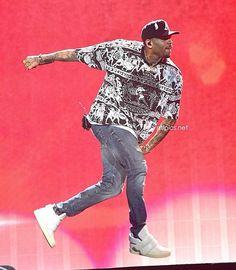 Chris Brown in the Kid Cudi x Guiseppe Zanotti Puff Strap Sneaker
