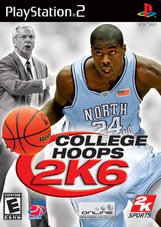 College Hoops 2K6 [PlayStation 2] - On the cover - Head coach Roy Williams and Marvin Williams, North Carlina Tar Heels