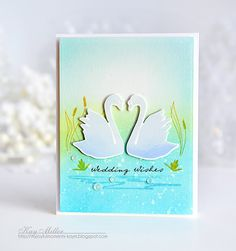 Wedding Wishes Card by Kay Miller for Papertrey Ink (December 2016)