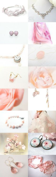 Delicate pink - featuring shop curtainroad by Marzena on Etsy--Pinned with TreasuryPin.com
