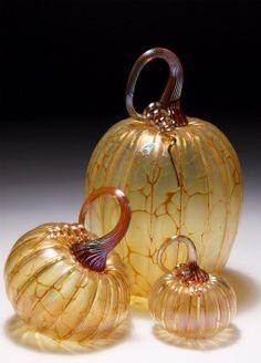 Pretty Glass Pumpkins
