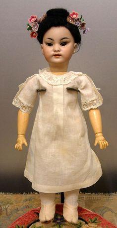 *Cabinet Cutie Alert* Simon & Halbig 1129 Antique Oriental Child Doll from kathylibratysantiques on Ruby Lane