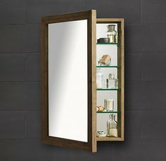Pottery Barn Weathered Oak Medicine Cabinet Contemporary Cabinets Restoration Hardware Condo