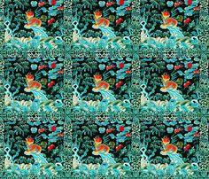 royal novelty thrones embroidery asian japanese china chinese oriental cheongsam kimono lions bats trees sun kirin sea ocean imperial chinoiserie kings queens museum traditional rank regal korean kabuki geisha yuan ming qing dynasty tapestry vintage emper fabric by raveneve on Spoonflower - custom fabric