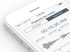 Sleep Tracker by Ramotion #app #design #UI #interface #inspiration #mobile #ramotion #dribbble #behance #application #flatdesign #iOS7 #iphone