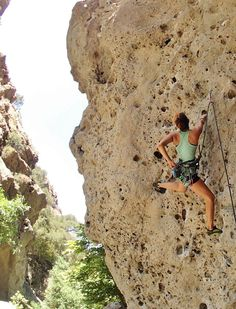 Rock Climbing - Kathmandu 5.10a. Malibu Creek State Park.