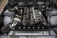 Turbo Bricking It: Riding In A Volvo - Speedhunters Volvo Wagon, Volvo Cars, Engine Swap, Car Engine, Volvo 740, Amazing Cars, Custom Cars, Race Cars, Cool Cars