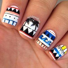 bold-tribal-nail-design