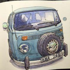 Nina Johansson » Blog Archive » Volkswagen Kleinbus in a storm