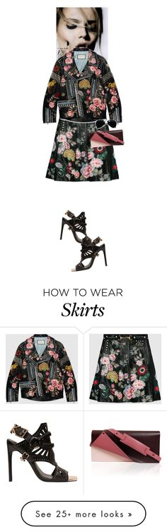 """""""Stella Zavala #5726"""" by canlui on Polyvore featuring Gucci, Ivy Kirzhner, Perrin and Ray-Ban"""