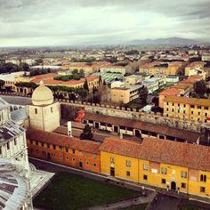The veiw from the top of pisa tower #pisa #pisatower #italy