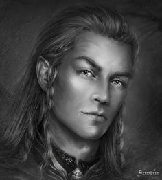 Sontur by Kaprriss on DeviantArt Fantasy Portraits, Character Portraits, Character Art, Male Portraits, Character Ideas, Elf Characters, Fantasy Characters, Tolkien, Elf Drawings