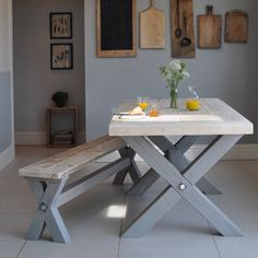 reclaimed timber refectory dining table by home barn   notonthehighstreet.com