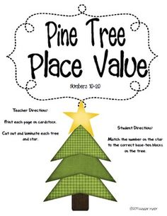 Place Value math center freebie.