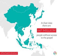Via OMF International - There is an unfinished task. East Asia is home to over 1000 unreached people groups.  How will they hear? #TheTaskUnfinished #pray #prayer #prayers #praying #willyoupray #prayfortheworld #prayerworks #powerofprayer #gospel #jesus #god #jesuschrist #outreach #commission #greatcommission #Unreached #unreachedpeoples #unreachedpeople #missionary #missions #mission#didyouknow #didyouknowfacts #fact #facts