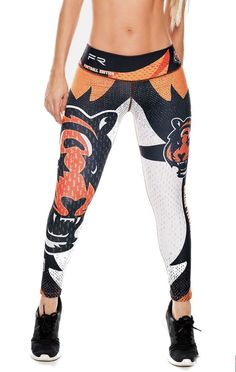 Show your love for the Cincinnati Bengals in these exclusive leggings made from the highest quality material. The luxe fabric moves & stretches with you while the think flat waistband keeps your belly Women's Athletic Leggings, Best Leggings, Athletic Outfits, Women's Leggings, Athletic Clothes, Workout Leggings, Workout Pants, Sport Outfits, Workout Clothes Cheap