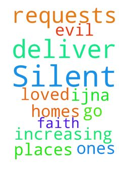 Please pray. Lord, praying the Silent requests. Deliver - Please pray. Lord, praying the Silent requests. Deliver us from evil loved ones, me, homes amp; places we go. Thank You for our increasing faith, IJNA. Posted at: https://prayerrequest.com/t/N8E #pray #prayer #request #prayerrequest