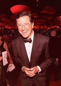 "Stephen Colbert: ""pundit,"" satirist, former Sunday school teacher, devout Catholic."