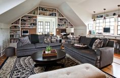love the multi-purpose - library, desk/homework, family room