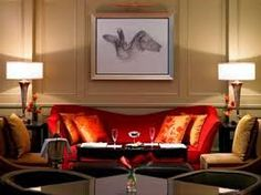 Stay at Grosvenor House, A JW Marriott Hotel, London's most exclusive address on Park Lane and feel like royalty while you commemorate the 60 year reign of Her Majesty Queen Elizabeth II. Grosvenor House London, Red Sofa, Marriott Hotels, Light Project, Best Hotels, Amazing Hotels, Sofa Design, Wall Colors, Couch