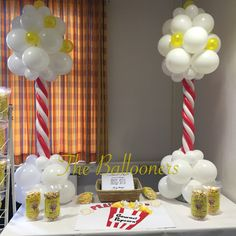 Popcorn stand balloons! Wow!