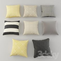 3d models: Pillows - Cushions from H&M Set 1