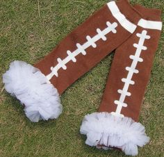 Hey, I found this really awesome Etsy listing at http://www.etsy.com/listing/161848013/football-leg-warmer-lace-leg-warmer-baby