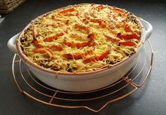 Oven dish sweet potato, leek and a little spice - Recipe - recept Oven Dishes, Moussaka, Savoury Dishes, International Recipes, Sweet Potato, Macaroni And Cheese, Good Food, Dinner Recipes, Food And Drink